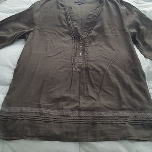 Gap grey tunic top med.